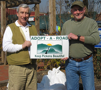 Keep Pickens Beautiful announces John Rupkey has joined their Adopt A Road Program