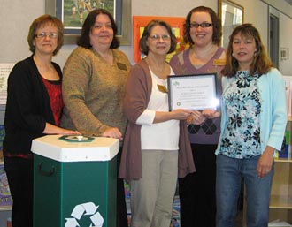 Pickens County Library awarded Keep Pickens Beautiful First Recyling Award