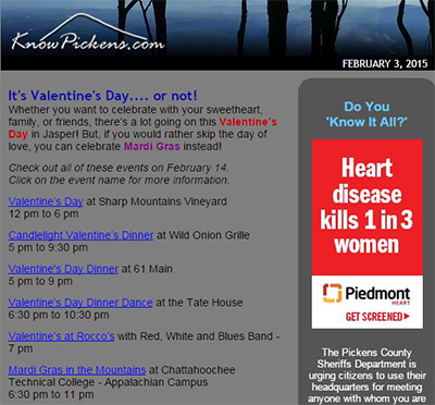KnowPickens eNewsletter - February is Heart Month... in more ways than one!