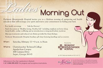 Ladies' Morning Out on Saturday, February 11 -  9 a.m. to Noon