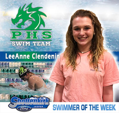 LeeAnne Clendenin is the PHS Swimmer of the Week