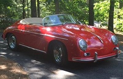 Owner, Steve Moranos, has registered his 1957 Porsche Speedster for the car show.<br>(Photo by Steve Moranos)
