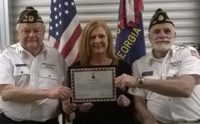 Legionnaire Wife Recognized for Volunteer Service