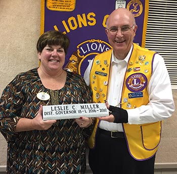 Jasper Lion Leslie Miller Elected 18L District Governor