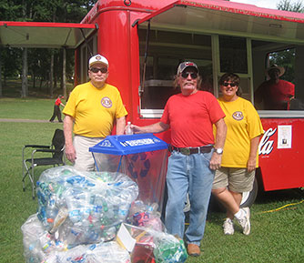 Fireworks and Recycling thanks to the Lions Club