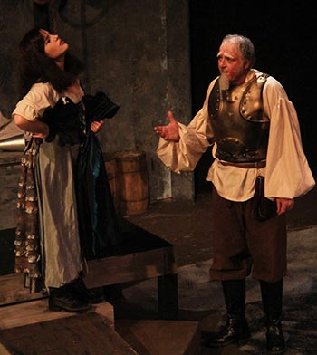 Aldonza (Emily Trossarello) and Don  Quixote (Alex Nawrocki)