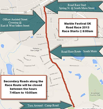 Main Street Road Closings During Road Race & Parade on October 5th