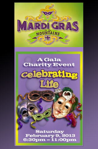 Mardi Gras in the Mountains Set For February 9, 2013