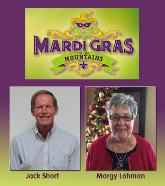 "Georgia Mountains Hospice Asks You To Vote for your local ""Mardi Gras in the Mountains"" King and Queen"