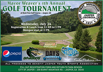 Mayor Weaver's Golf Tournament Set For July 24th