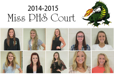 2014-2015 Miss PHS Court Announced