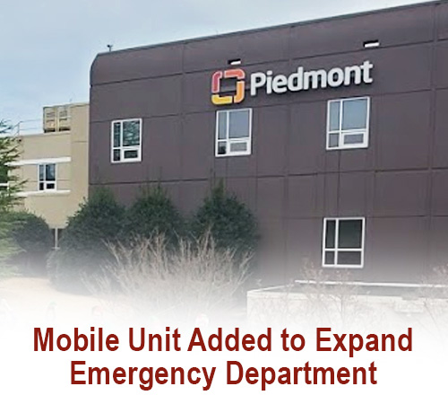 Piedmont Mountainside Hospital Adds Mobile Unit to Expand Emergency Department If Needed Amid COVID-19 Response