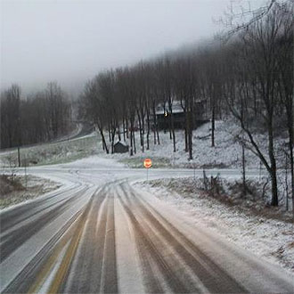 ***WEATHER ALERT***  Use caution on Hwy. 136 (Burnt Mountain Road) near Monument Road and Sunrise Ridge