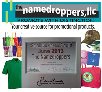 The Namedroppers LLC Is Awarded The Pickens Chamber of Commerce June Business of the Month Award