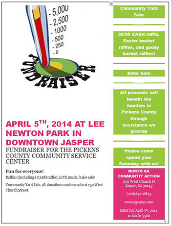 Pickens County Community Service Center Yard Sale on April 5th