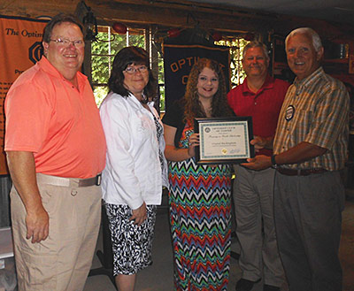 OPTIMISTS AWARD TWO NEW SCHOLARSHIPS