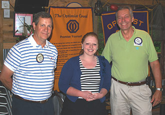 AMANDA ROGERS RECEIVES OPTIMIST CITIZENSHIP AWARD