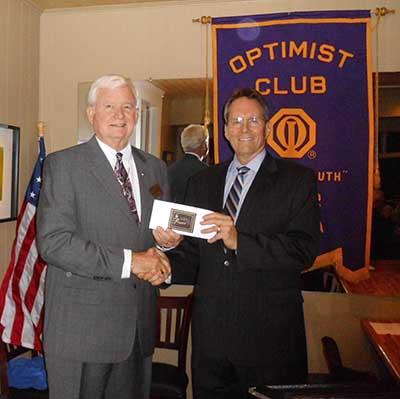 Optimist Club Installs New Officers