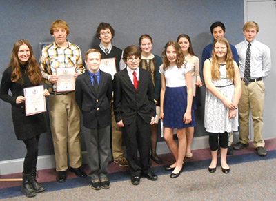 WINNERS CHOSEN AT JASPER ORATORICAL CONTEST