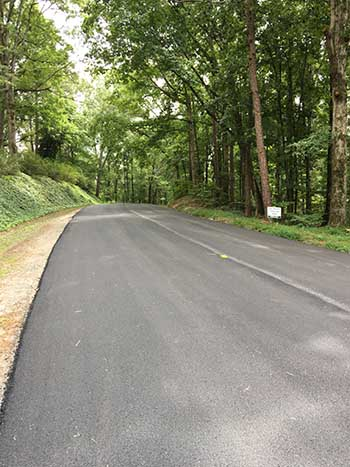 Paving on Cain Trail