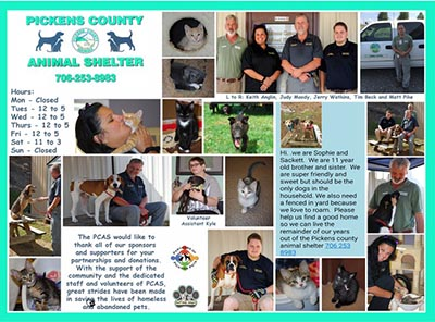 2017 Pickens County Animal Shelter Calendars Now Available