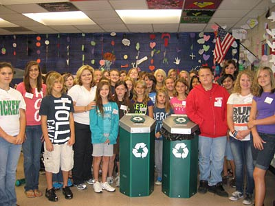 Peer Helpers at Pickens County Middle School take on Recycling