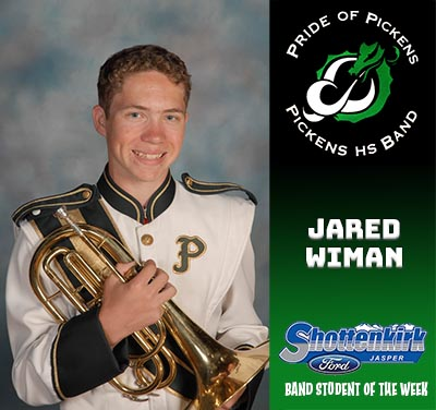 PHS Band Student of the Week - Jared Wiman