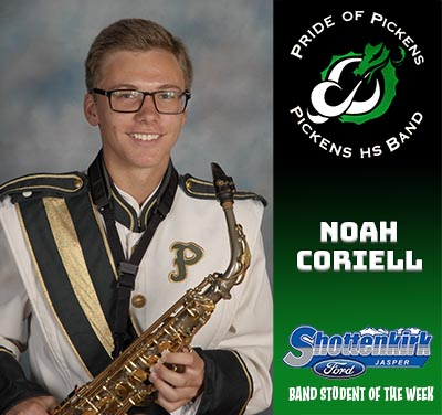 PHS Band Student of the Week - Noah Coriell