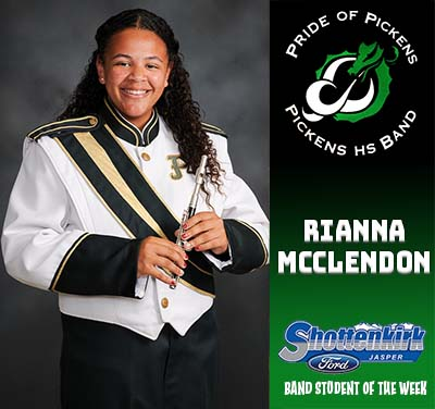 Rianna McClendon Named PHS Band Student of the Week