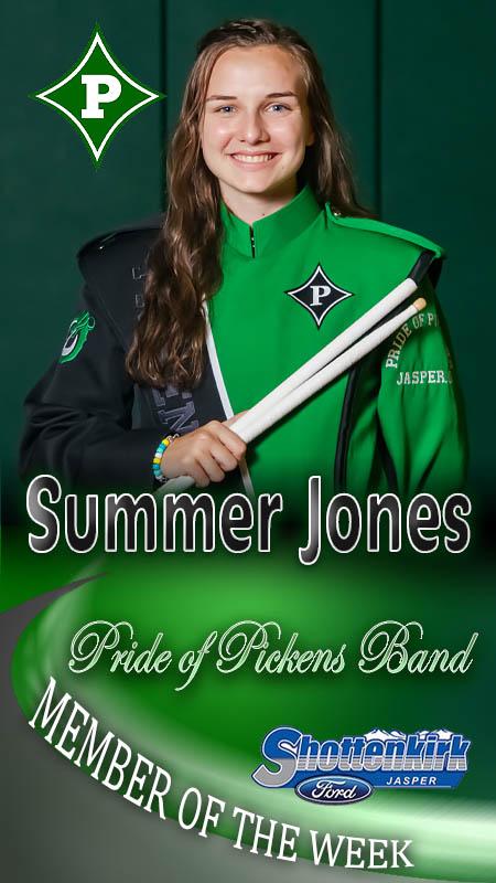 Summer Jones Named PHS Band Member of the Week