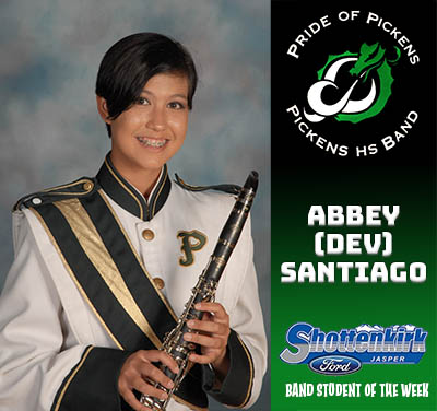 PHS Band Student of the Week - Abbey (Dev) Santiago