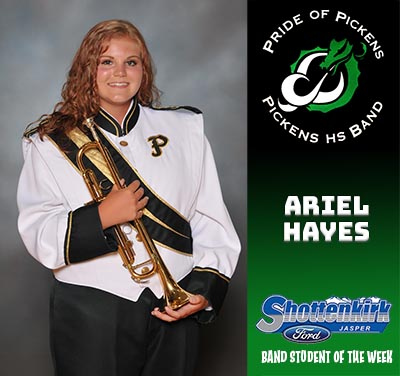 PHS Band Student of the Week - Ariel Hayes