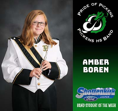 Amber Boren Named PHS Band Student of the Week