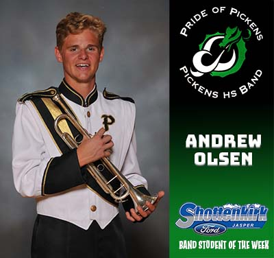 PHS Band Student of the Week - Andrew Olsen