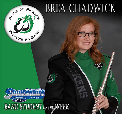 Brea Chadwick Named PHS Band Student of the Week