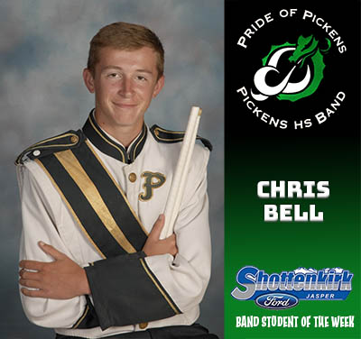 PHS Band Student of the Week - Chris Bell