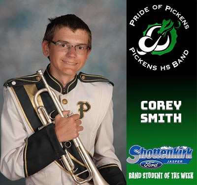 PHS Band Student of the Week - Corey Smith