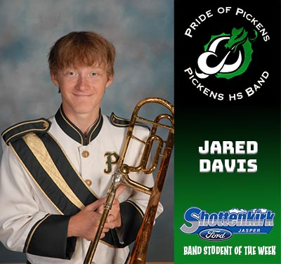 PHS Band Student of the Week - Jared Davis