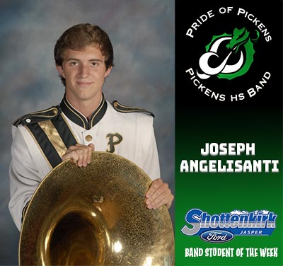 PHS Band Student of the Week - Joseph Angelisanti.
