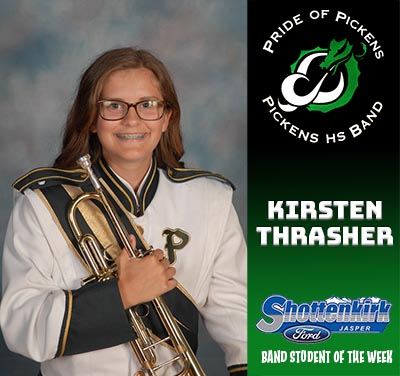 PHS Band Student of the Week - Kirsten Thrasher
