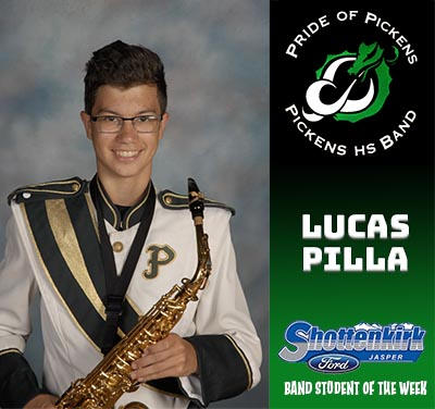 PHS Band Student of the Week - Lucas Pilla