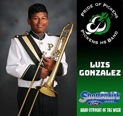 Luis Gonzalez Named PHS Band Student of the Week