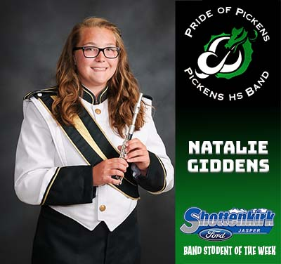 Natalie Giddens Named PHS Band Student of the Week