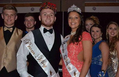 PHS Prom King and Queen - Ty Prather and Paula Pickett