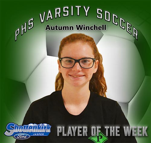 Autumn Winchell Named PHS Girls Soccer Player of the Week