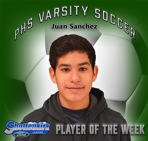 Juan Sanchez Named PHS Boys Soccer Player of the Week