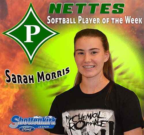 Sarah Morris Named PHS Nettes Softball Player of the Week