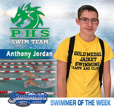 Anthony Jordan is PHS Swimmer of the Week