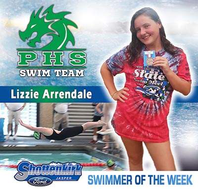Lizzie Arrendale is PHS Swimmer of the Week