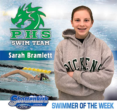 Sarah Bramlett is PHS Swimmer of the Week